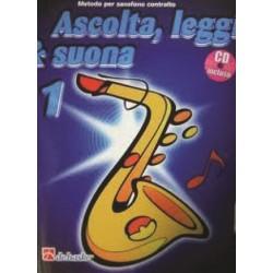 DE HASKE - ASCOLTA LEGGI E SUONA vol.1 METODO PER SASSOFONO CONTRALTO con CD allegato - J.KASTELEIN
