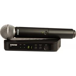 SHURE BLX24E / SM58 RADIOMICROFONO WIRELESS Microfono palmare a gelato