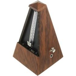 METRONOMO Wittner 818 Marrone SISTEMA Maelzel a piramide struttura in legno con suoneria