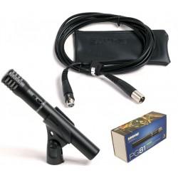 SHURE PG81 MICROFONO A CONDENSATORE CARDIOIDE ideale per la ripresa di strumenti , cavo incluso