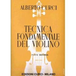 ALBERTO CURCI TECNICA FONDAMENTALE DEL VIOLINO PARTE PRIMA - EDIZIONI CURCI