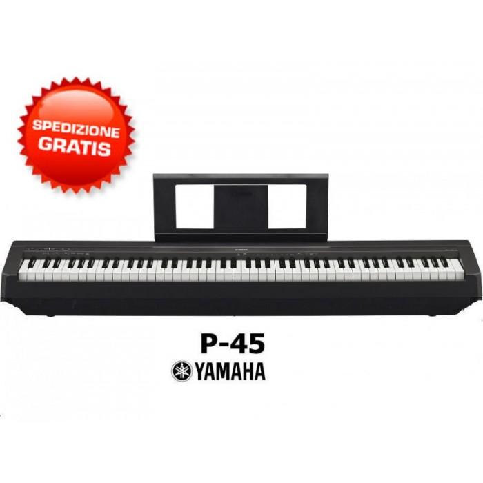 YAMAHA P45 B PIANO DIGITALE 88 TASTI PESATI