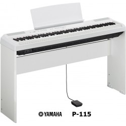 YAMAHA P115 W WHITE COMPLETO DI STAND L-85