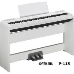 YAMAHA P115 W WHITE + STAND L-85 + PEDALIERA LP-5A