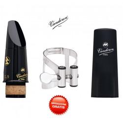 VANDOREN Masters Mouthpiece CL5 MASTERS KIT (CM60058KS) BOCCHINO PER CLARINETTO SIB