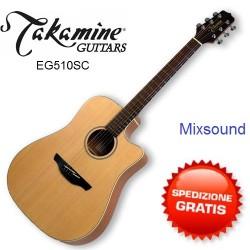 Takamine EG510 SC NATURAL SATIN Chitarra acustica elettrificata Dreadnought