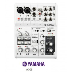 YAMAHA AG06 MIXER USB 6 CANALI INTERFACCIA AUDIO USB PER BROADCASTING PODCASTING