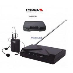 PROEL WM101 H headset radiomicrofoni archetto UHF