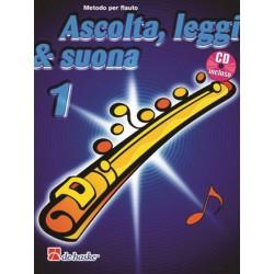 DE HASKE - ASCOLTA LEGGI E SUONA vol 1 METODO PER FLAUTO TRAVERSO CON CD - J.KASTELEIN